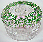 Art Deco Glass Dresser Jar