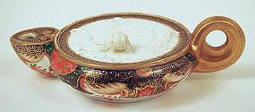 Antique Copeland Imari Style Porcelain  Oil Lamp