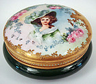 Beautiful Antique T & V Limoges Portrait Box