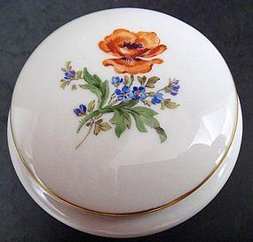 Fine Meissen Porcelain Trinket Box