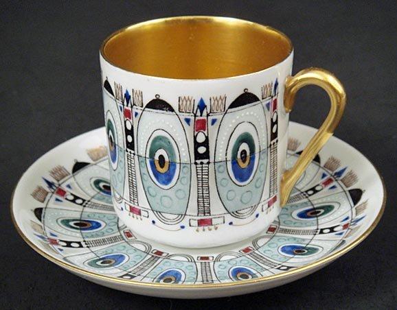 6 Arabia Finland Demitasse Cups & Saucers