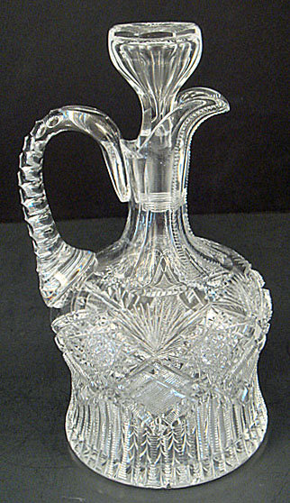Antique American Brilliant Cut Crystal Decanter