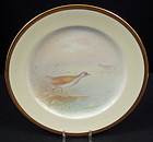 Fabulous Antique Lenox Cabinet Plate, �Rail� Bird