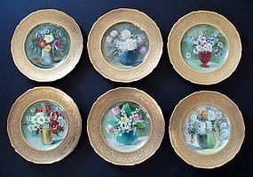 Set of 6 Still Life Cabinet Plates by Anton Rhodes