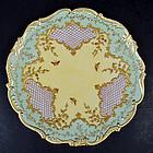 Fine Antique Jeweled Coalport Cabinet Plate