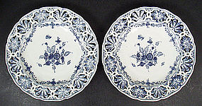 Pair of Antique Royal Berlin KPM Cabinet Plates