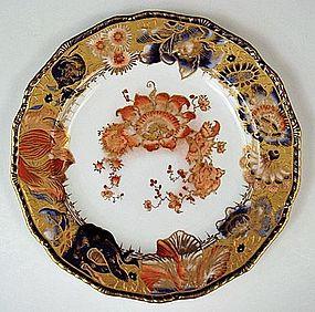 Antique Crown Derby Imari Cabinet Plate