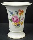 Vintage Meissen Trumpet Shaped Vase