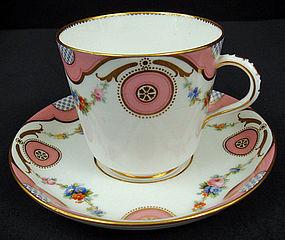 Fine Antique Minton Tea Cup & Saucer
