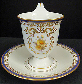Elegant Antique KPM Berlin Chocolate Cup & Saucer