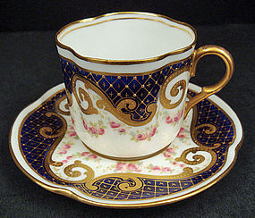 Lovely  Antique Royal Doulton Demitasse Cup & Saucer