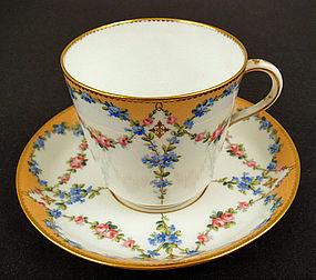 Charming Antique Minton Tea Cup & Saucer