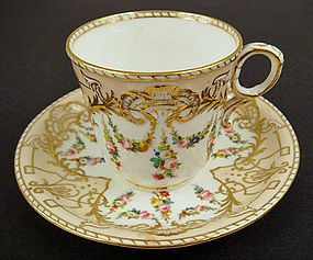 Victorian Copeland Coffee Cup & Saucer