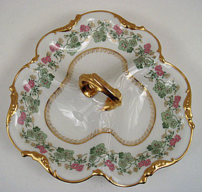 Antique Pouyat Limoges Sectional Dish