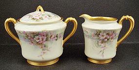 Antique Haviland Limoges Sugar Bowl & Cream Pitcher