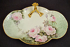 Charming Antique Limoges Bonbon Dish with Roses