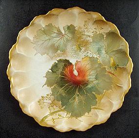 Art Nouveau Doulton Burslem Cabinet Plate Signed Slater