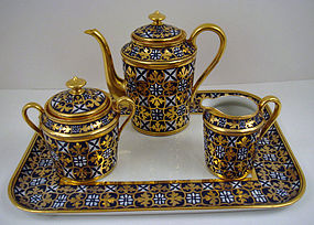 Handsome Antique Limoges Demitasse Set on Tray