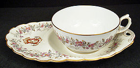 Paris Porcelain Breakfast Cup & Biscuit Tray