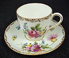 Cute Antique Wehsener Dresden Demitasse Cup & Saucer