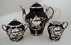 Antique French Silver Overlay Tea Set