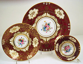Crown Staffordshire Tea Cup & Saucer & Plate