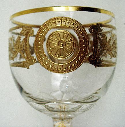 Antique Bohemian Enameled Wine Glass