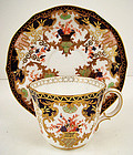 Antique Royal Crown Derby Tea Cup & Saucer