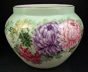 Huge Antique B&C Limoges Jardinière, Chrysanthemums