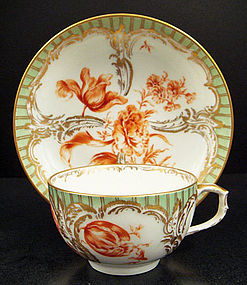 Antique Berlin Tea Cup & Saucer