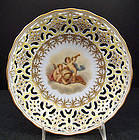 Antique Wolfsohn Dresden Reticulated Cherub Bowl