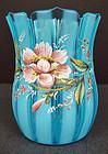 Charming Victorian Enameled Art Glass Vase