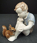 Charming Rosenthal Figurine, Boy with Squirrel