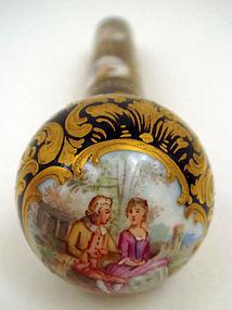 Antique Dresden Porcelain Parasol Handle