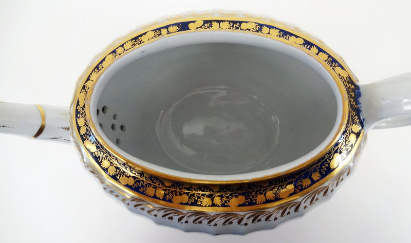 Rare Antique English Tea Pot with Stand, c. 1810