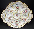 Wonderful Antique Paris Porcelain Oyster Plate