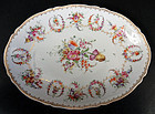 Charming Antique Hirsch Dresden Oval Platter A