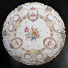Gorgeous Antique Hirsch Reticulated Round Platter C