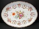 Exquisite Antique Hirsch Dresden Oval Platter B