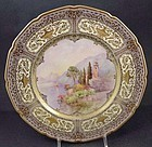 Pair of Doulton Scenic Cabinet Plates, Signed P.Curnock