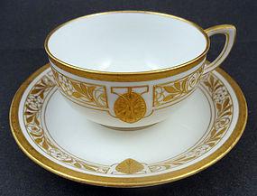 Elegant Art Nouveau KPM Berlin Coffee Cup & Saucer