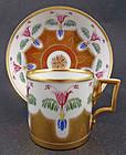 Antique Ernst Wahliss Nouveau Tea Cup & Saucer