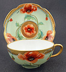 Antique Stouffer Art Nouveau Tea Cup & Saucer
