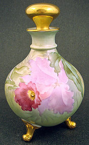 Antique Limoges Orchid Perfume Bottle by Putzki Studio