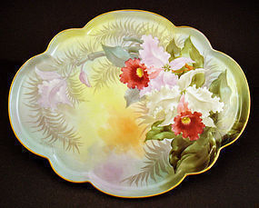 Antique Limoges Orchid Dresser Tray by Putzki Studio