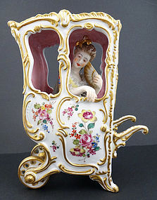 Enchanting French Porcelain Lady & Carriage