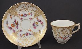 Dainty Antique KPM Berlin Demitasse Cup & Saucer