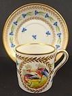 Antique Saxe Dresden Demitasse Cup & Saucer