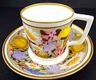 Antique Nymphenburg Nouveau Demitasse Cup & Saucer