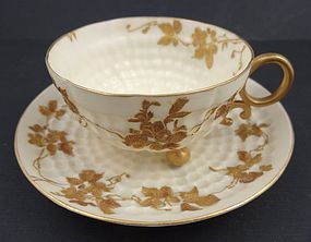 Antique American Belleek Demitasse Cup & Saucer